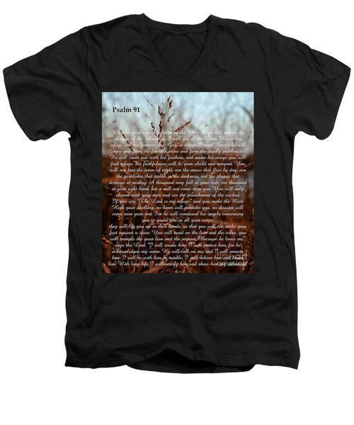 Psalm 91 Men's V-Neck T-Shirt