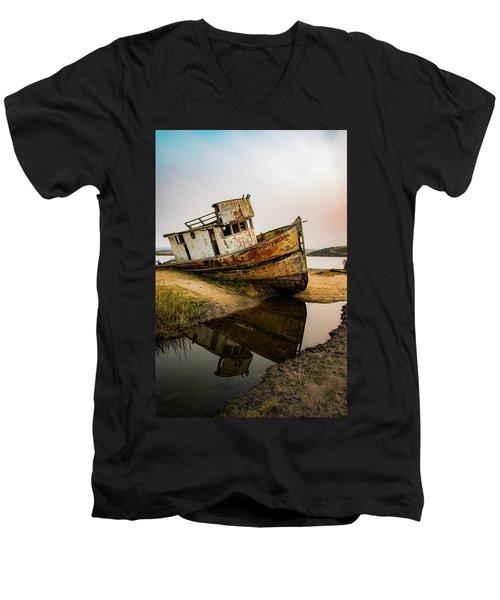 Pt. Reyes Shipwreck 1 Men's V-Neck T-Shirt