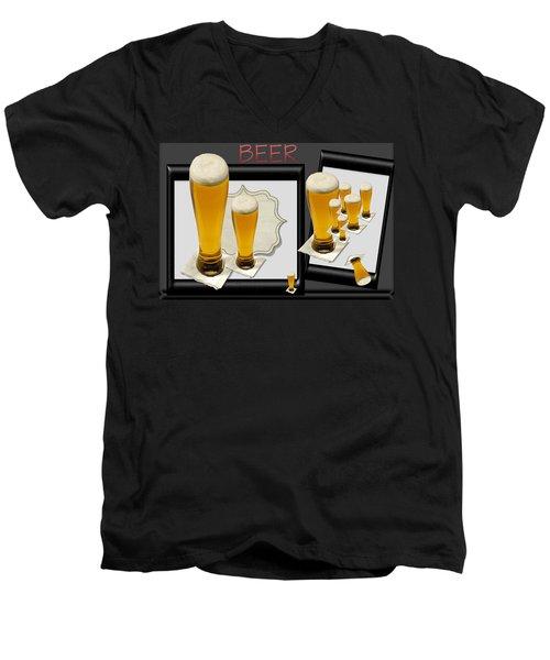 Pub Art Yes Men's V-Neck T-Shirt