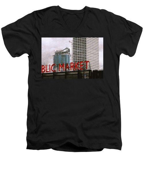 Public Market Men's V-Neck T-Shirt