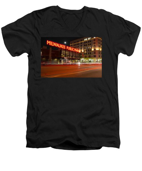Public Market Men's V-Neck T-Shirt