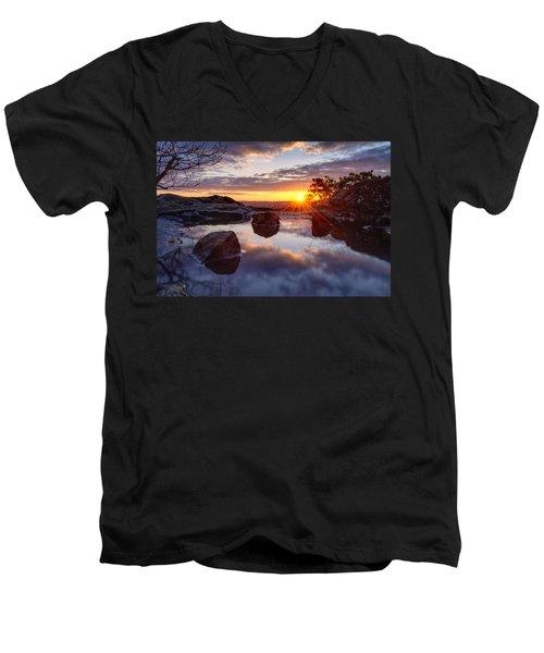 Puddle Paradise Men's V-Neck T-Shirt by Craig Szymanski