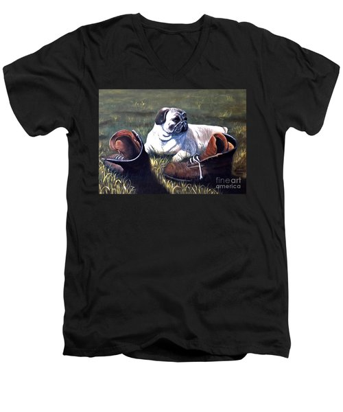 Pug And Boots Men's V-Neck T-Shirt