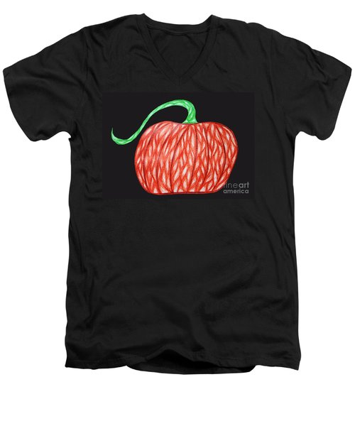 Pumpkin Men's V-Neck T-Shirt by Jamie Lynn
