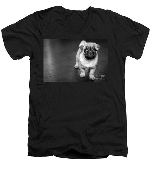 Puppy - Monochrome 2 Men's V-Neck T-Shirt