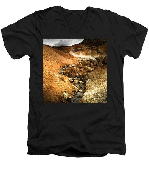 Pure Iceland - Geothermal Area Krysuvik Men's V-Neck T-Shirt