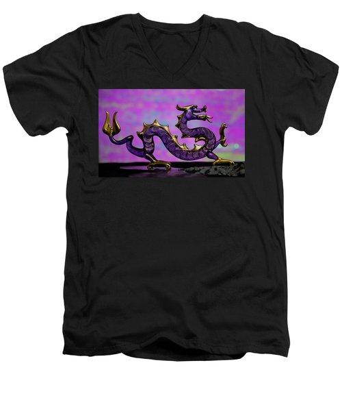 Purple Dragon Men's V-Neck T-Shirt