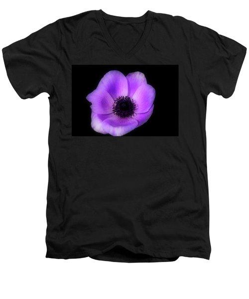 Purple Flower Head Men's V-Neck T-Shirt