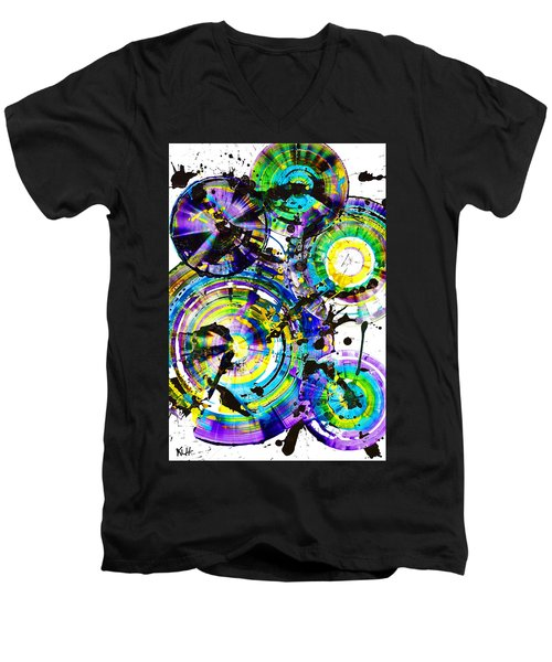 Purple Haze Spheres And Circles 1509.021413 Men's V-Neck T-Shirt