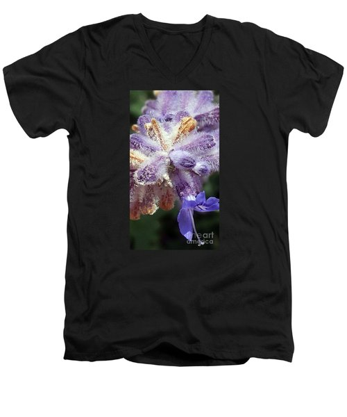 Purple Iced Blue New Mexico Wildflower Men's V-Neck T-Shirt