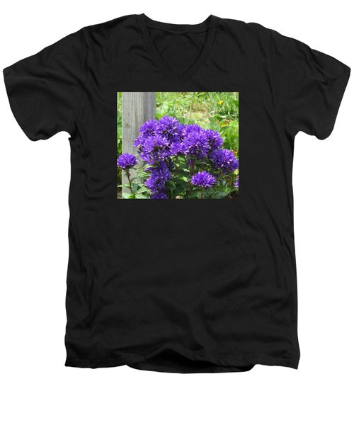 Purple In The Forest Men's V-Neck T-Shirt by Jeanette Oberholtzer