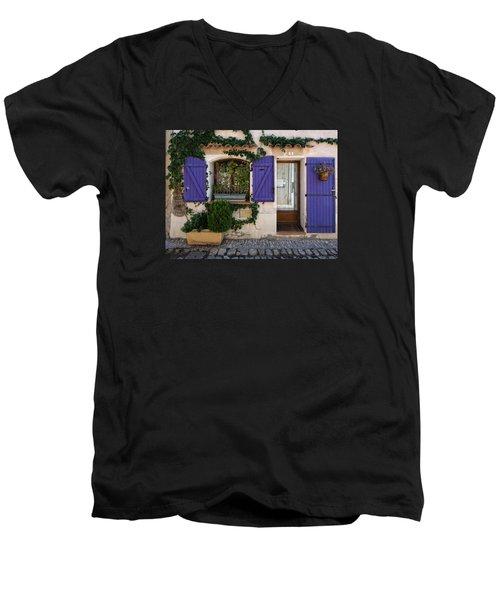 Purple Shutters Men's V-Neck T-Shirt