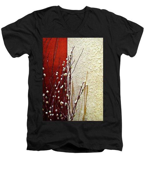 Pussy Willow Corner Men's V-Neck T-Shirt