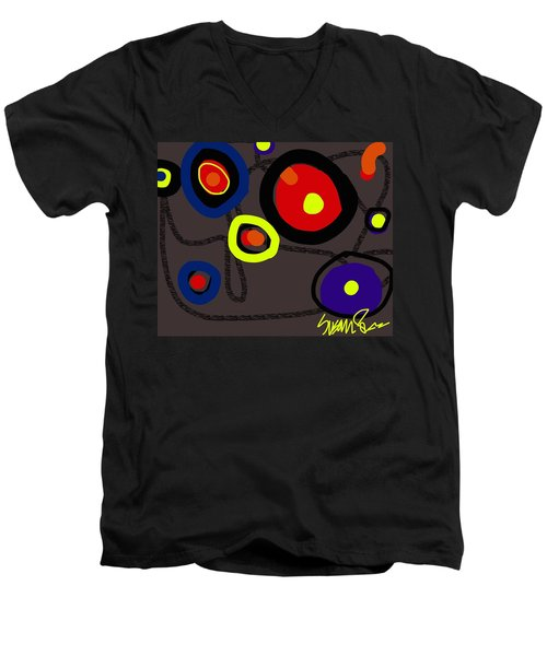 Puzzled In A Pool Of Thought Men's V-Neck T-Shirt