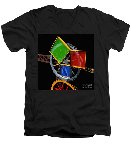 Pythagorean Machine Men's V-Neck T-Shirt