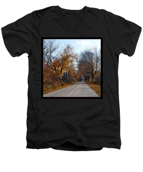 Quarterline Road Men's V-Neck T-Shirt