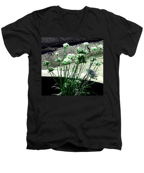 Men's V-Neck T-Shirt featuring the photograph Queen Anne's Lace by Lenore Senior