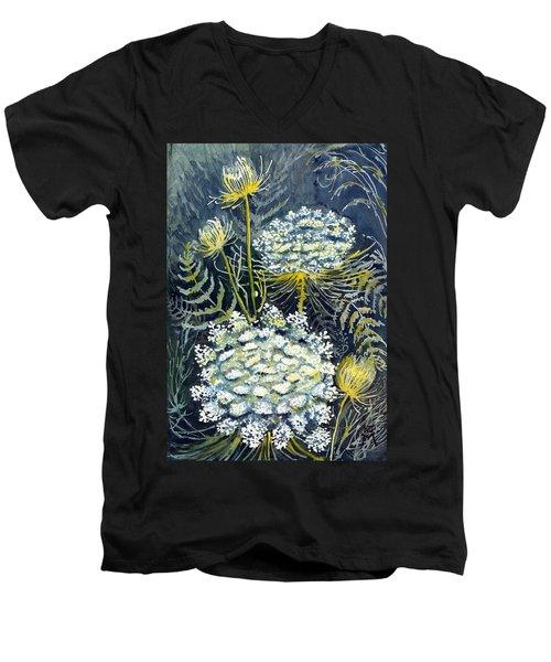 Queen Anne's Lace Men's V-Neck T-Shirt