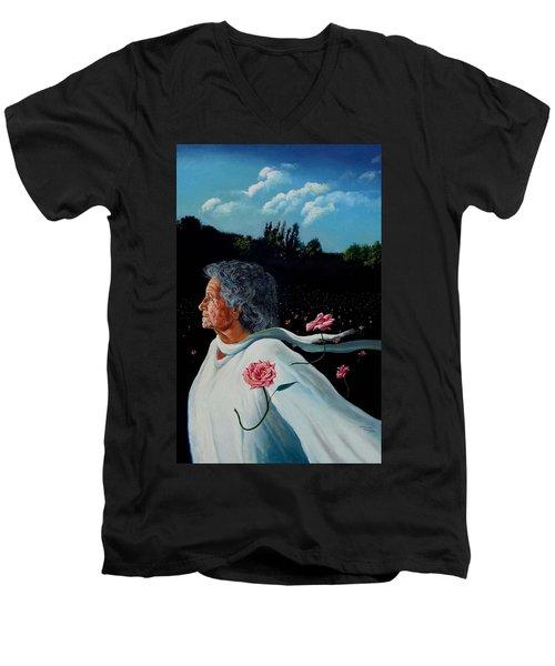 Queen Of Roses Men's V-Neck T-Shirt