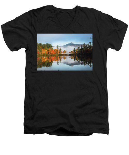 Mount Chocorua Fall Reflection Men's V-Neck T-Shirt