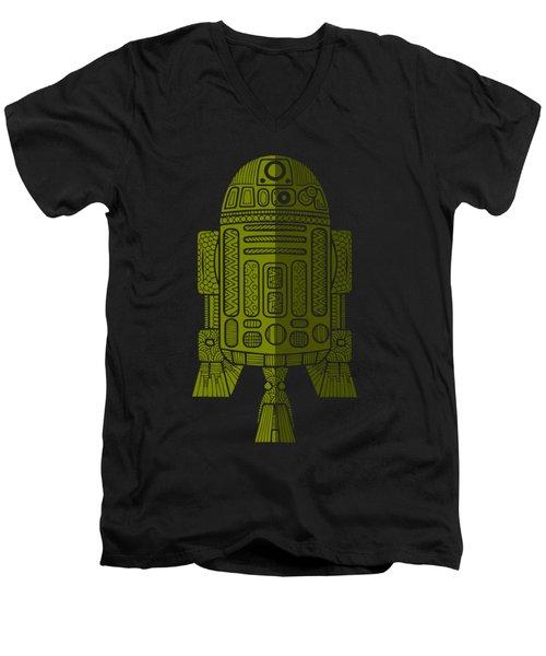R2d2 - Star Wars Art - Green 2 Men's V-Neck T-Shirt