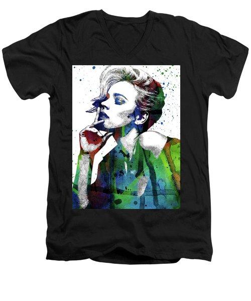 Rachel Mcadams Men's V-Neck T-Shirt by Mihaela Pater