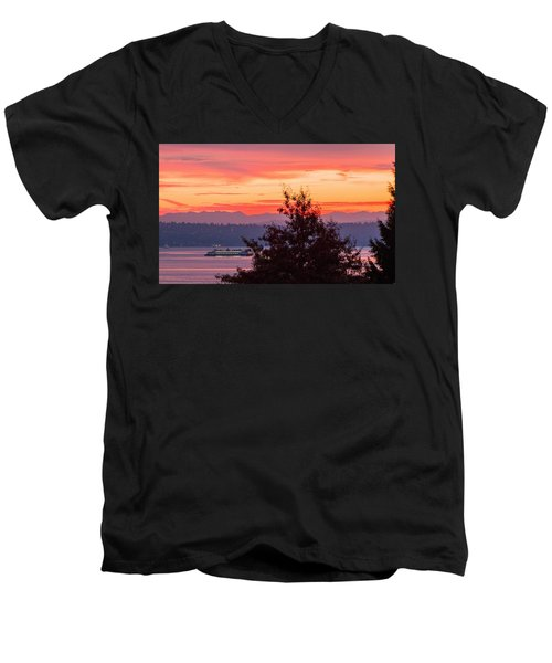 Radiance At Sunrise Men's V-Neck T-Shirt by E Faithe Lester