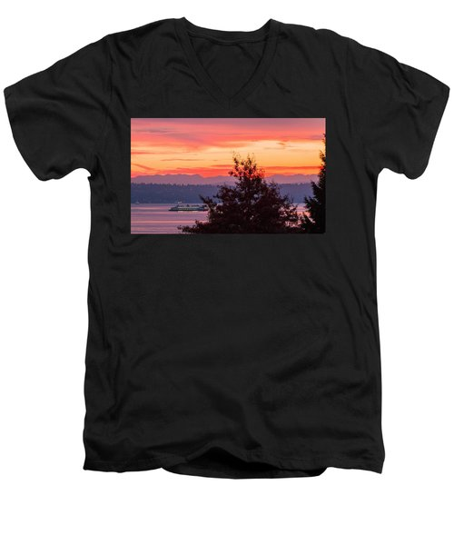 Radiance At Sunrise Men's V-Neck T-Shirt