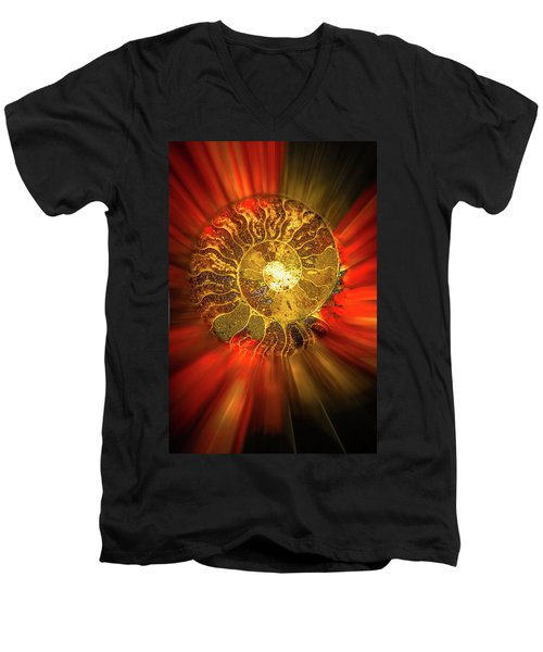 Radiance Men's V-Neck T-Shirt by Mark Dunton