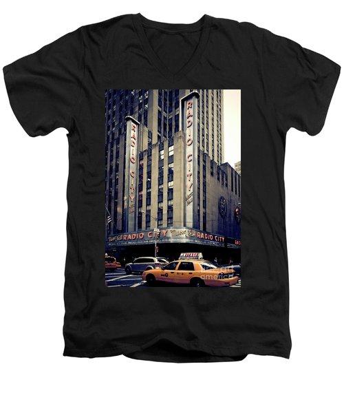Radio City Men's V-Neck T-Shirt