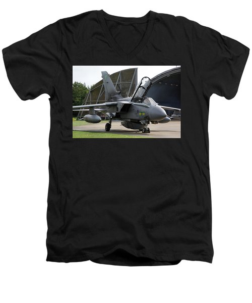 Raf Panavia Tornado Gr4 Men's V-Neck T-Shirt by Tim Beach