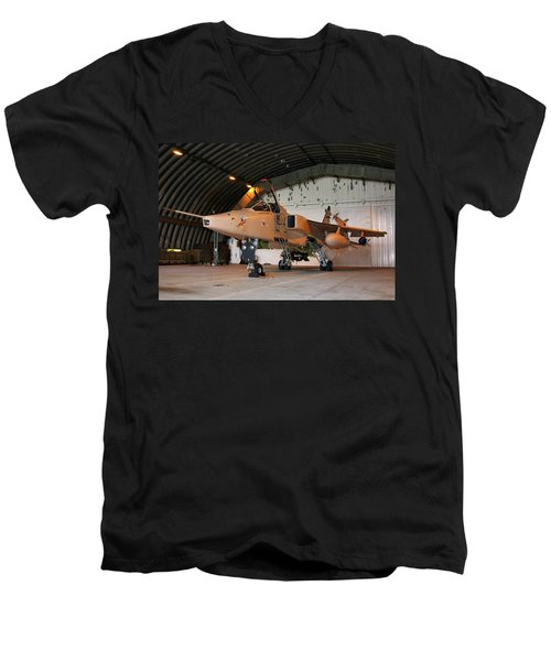 Raf Sepecat Jaguar Gr3a Men's V-Neck T-Shirt by Tim Beach