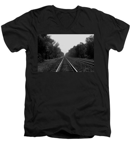 Railroad To Nowhere Men's V-Neck T-Shirt
