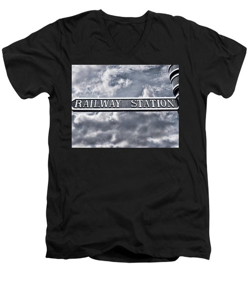 Railway Station Men's V-Neck T-Shirt