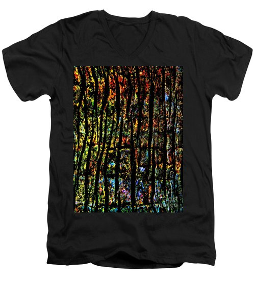 Rain Forest  Men's V-Neck T-Shirt by Amar Sheow
