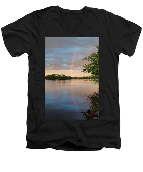 Rainbow After The Storm Men's V-Neck T-Shirt
