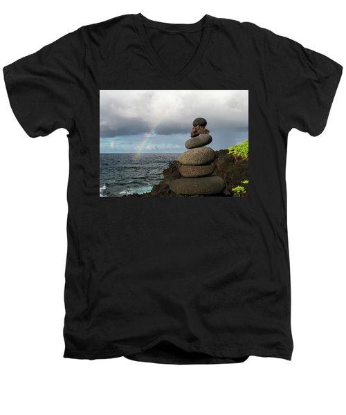 Rainbow Cairn Men's V-Neck T-Shirt