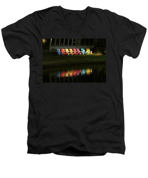 Rainbow Chairs  Men's V-Neck T-Shirt