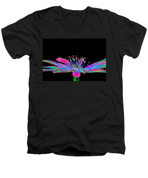 Rainbow Chicory Men's V-Neck T-Shirt