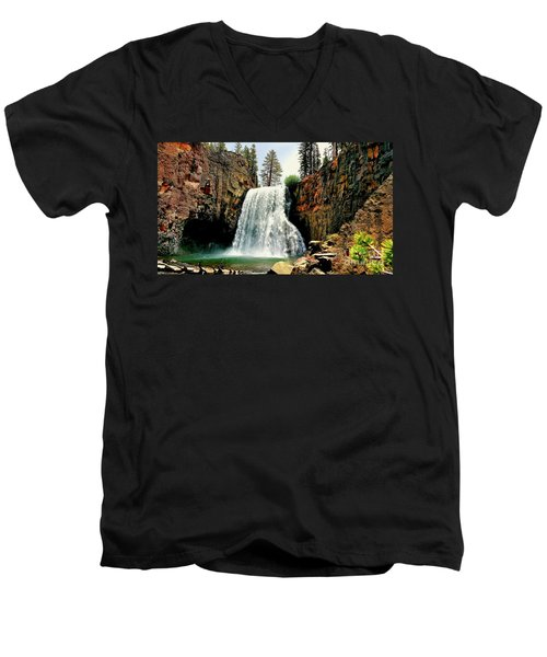 Rainbow Falls 8 Men's V-Neck T-Shirt