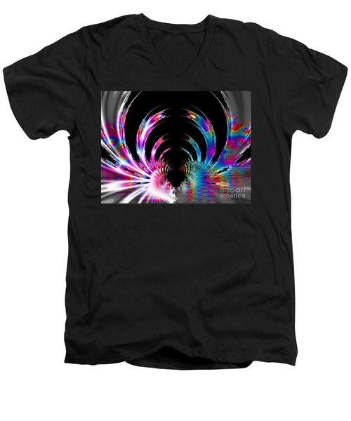 Rainbow Swirls Men's V-Neck T-Shirt
