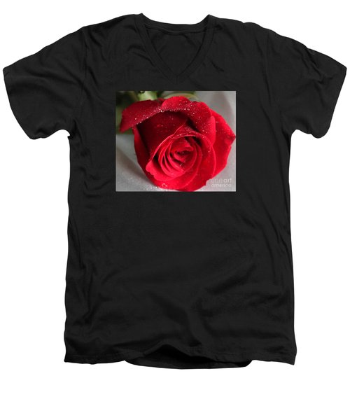 Raindrops On Roses Men's V-Neck T-Shirt by Rita Brown