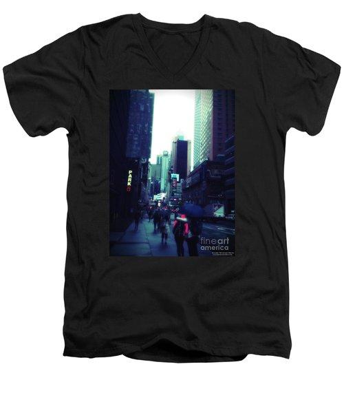 Rainy Day New York City Men's V-Neck T-Shirt