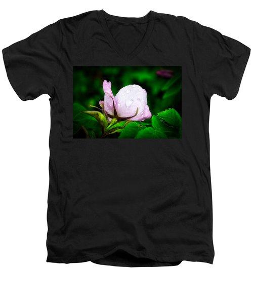 Rainy Day Rose Number 2 Men's V-Neck T-Shirt