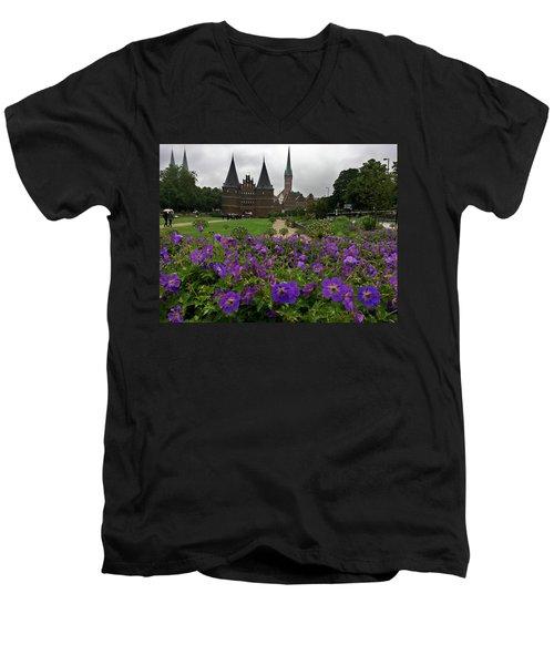 Rainy Luebeck Is Beautiful Men's V-Neck T-Shirt