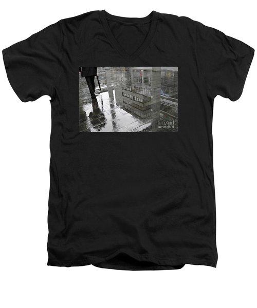 Rainy Morning In Mainz Men's V-Neck T-Shirt by Sarah Loft