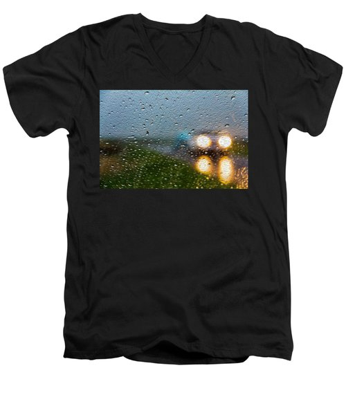 Rainy Ride Men's V-Neck T-Shirt