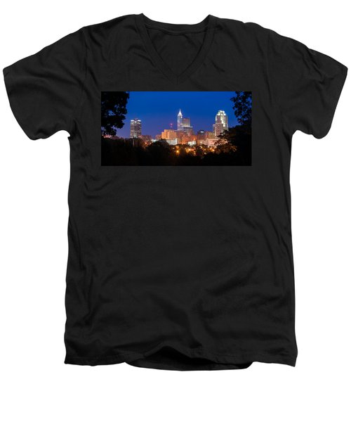 Raleigh Skyline Men's V-Neck T-Shirt