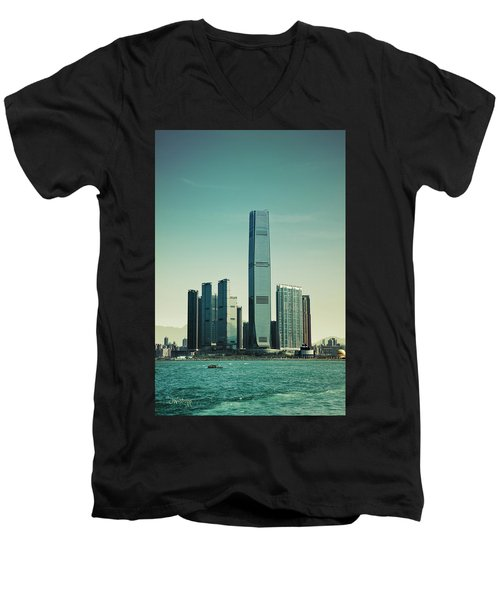 Ramparts Of Commerce Men's V-Neck T-Shirt by Joseph Westrupp