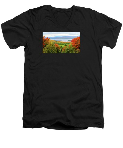 Rangeley Lake And Rangeley Plantation Men's V-Neck T-Shirt